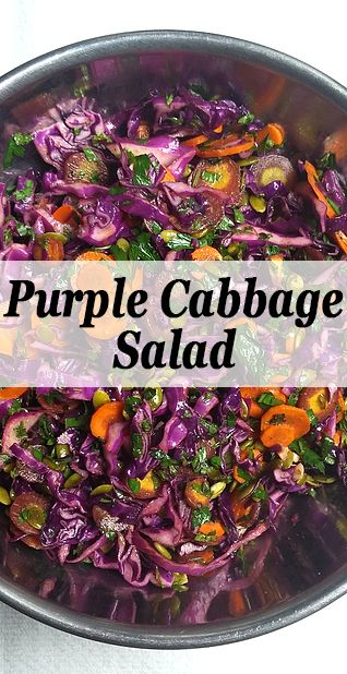 I wasn't always a fan of red cabbage until I had this salad. The dressing adds so much flavor and has a nice kick. Cabbage never tasted so good.