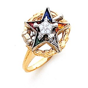 Grandma Miss Eastern Star Star Ring Rings