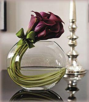 Arranjo De Copo De Leite Lindo Lirio Roxo Flores Bonitas E