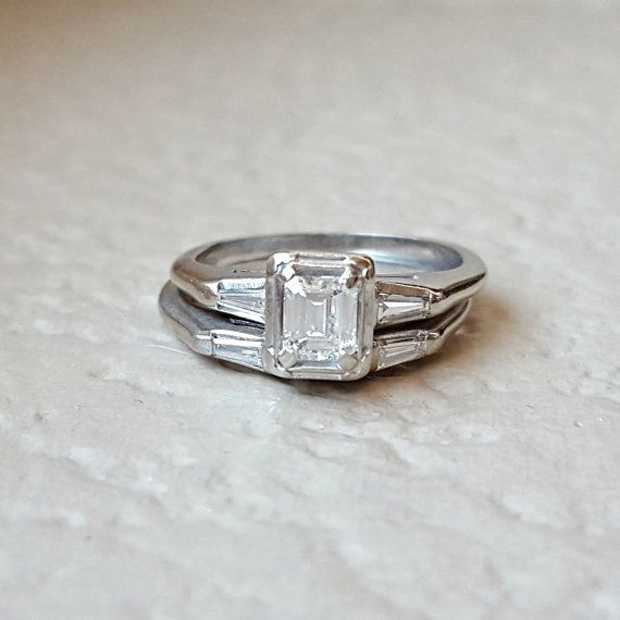 Here Is A Spectacular 1950s Vintage 14k White Gold