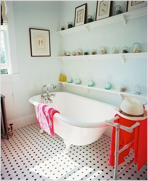Long Shelves with a Display | Wonderful design | Pinterest | Long ...