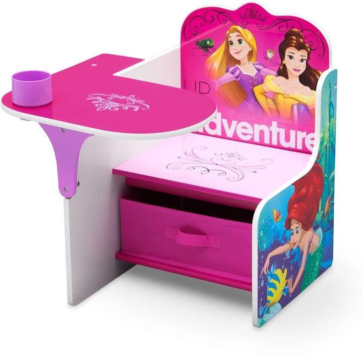 Disney Princess Chair Desk With Storage Bin By Delta Children Kids Chairs Desk Storage Princess Chair