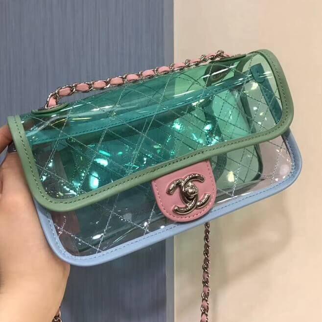 879ed33db12a Chanel PVC Coco Splash Mini Flap Bag A57048 Green/Blue/Pink 2018 ...