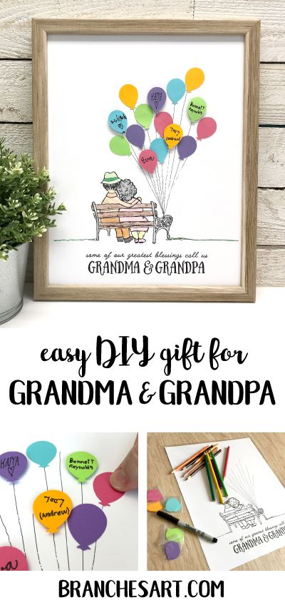 Easy DIY gift for Grandma & Grandpa