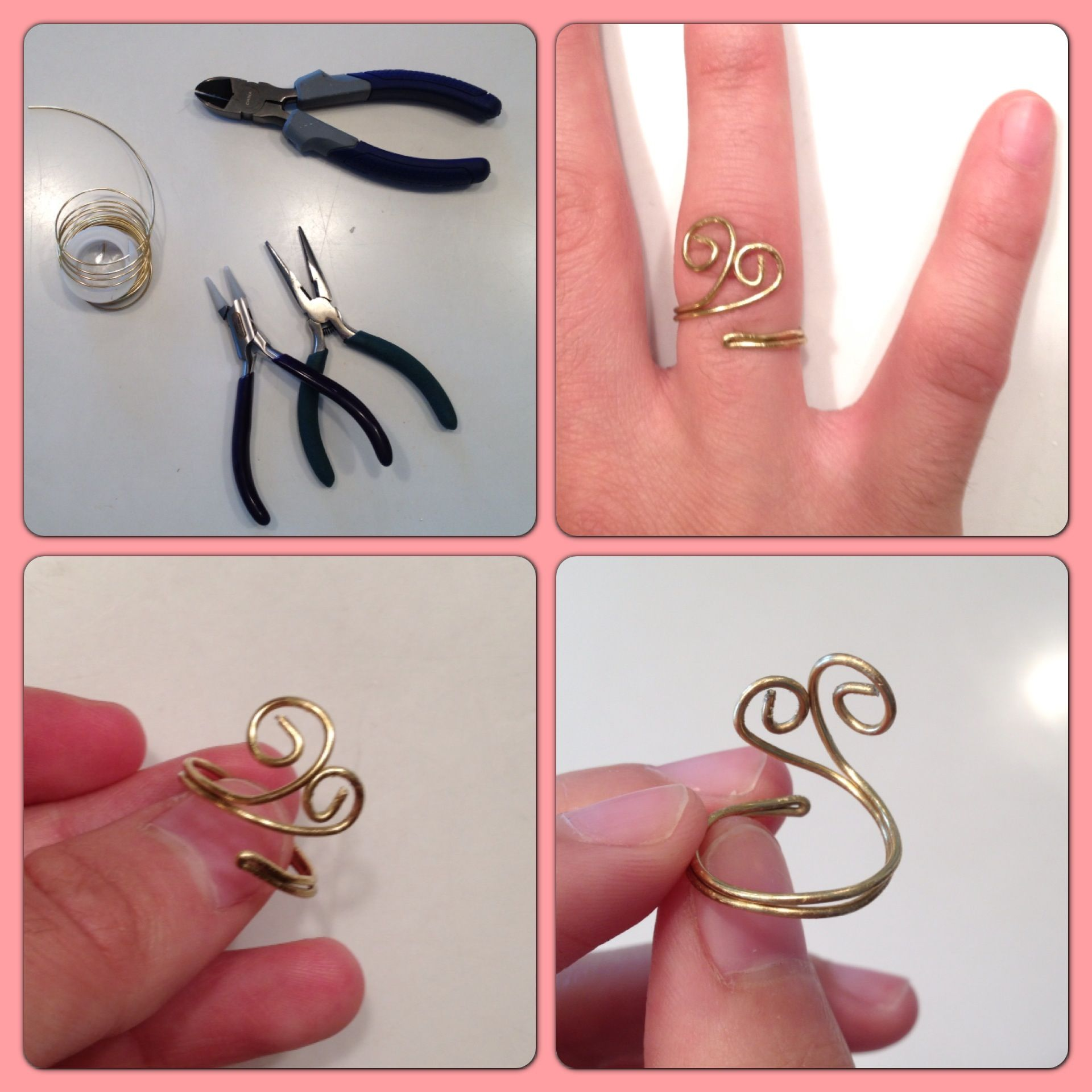 Homemade Bent Wire Ring! Inspiration for this design and tutorial ...
