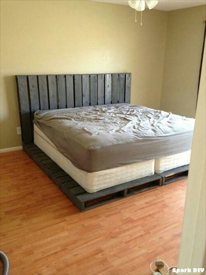 Super King size pallet bed ❤ | Camas | Pinterest
