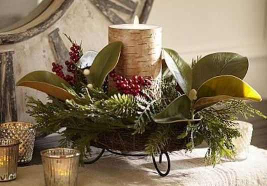 beautiful magnolia christmas decorations ideas decoration magnolia and eucalyptus wreath