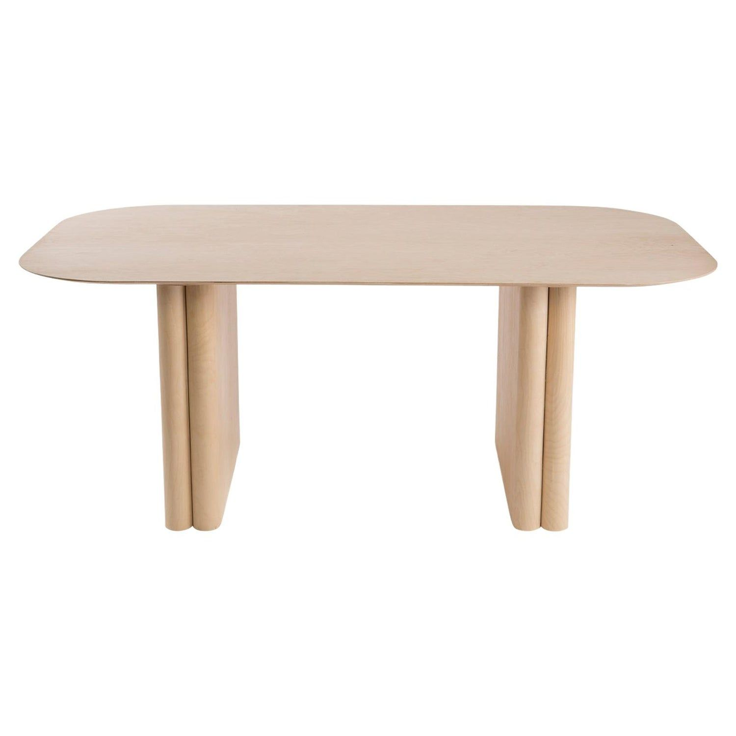Rectangular Maple Dining Or Conference Column Table With Rounded Edges Round Pedestal Dining Maple Dining Table Dining Table
