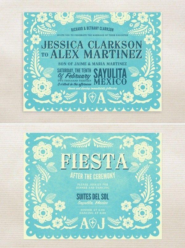 Papel Picado Invitation Template Mexican Fiesta
