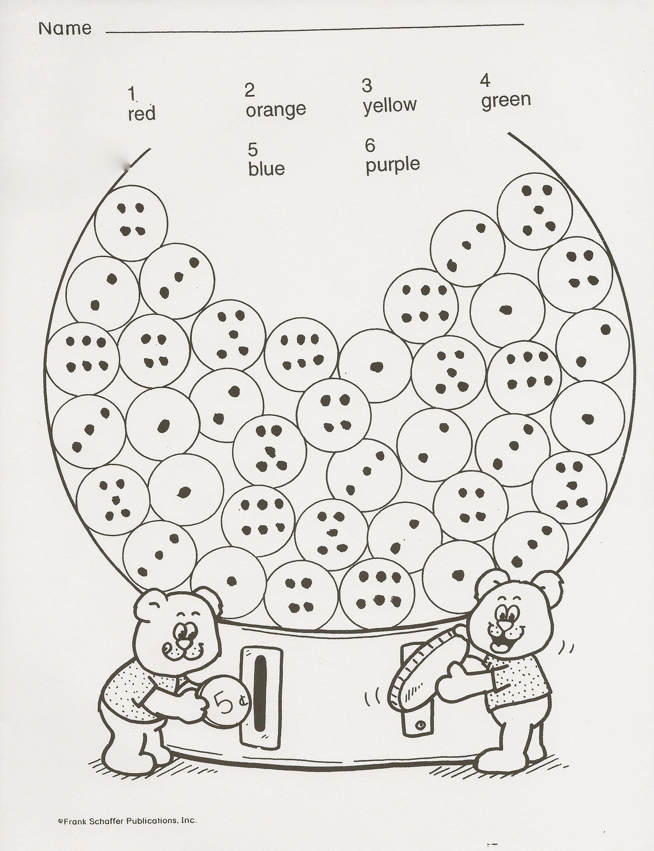 Bubblegum Worksheets