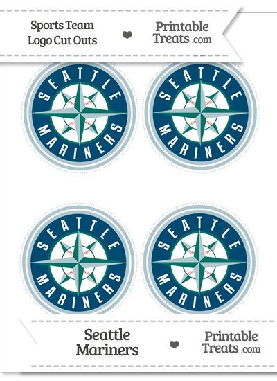 photo relating to Mariners Printable Schedule identify Very low Seattle Mariners Symbol Slash Outs versus PrintableTreats