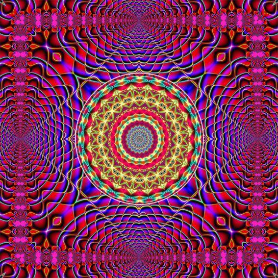 7th Dimension Energy Art >> | Awakening art, Mandala art, Fractal art