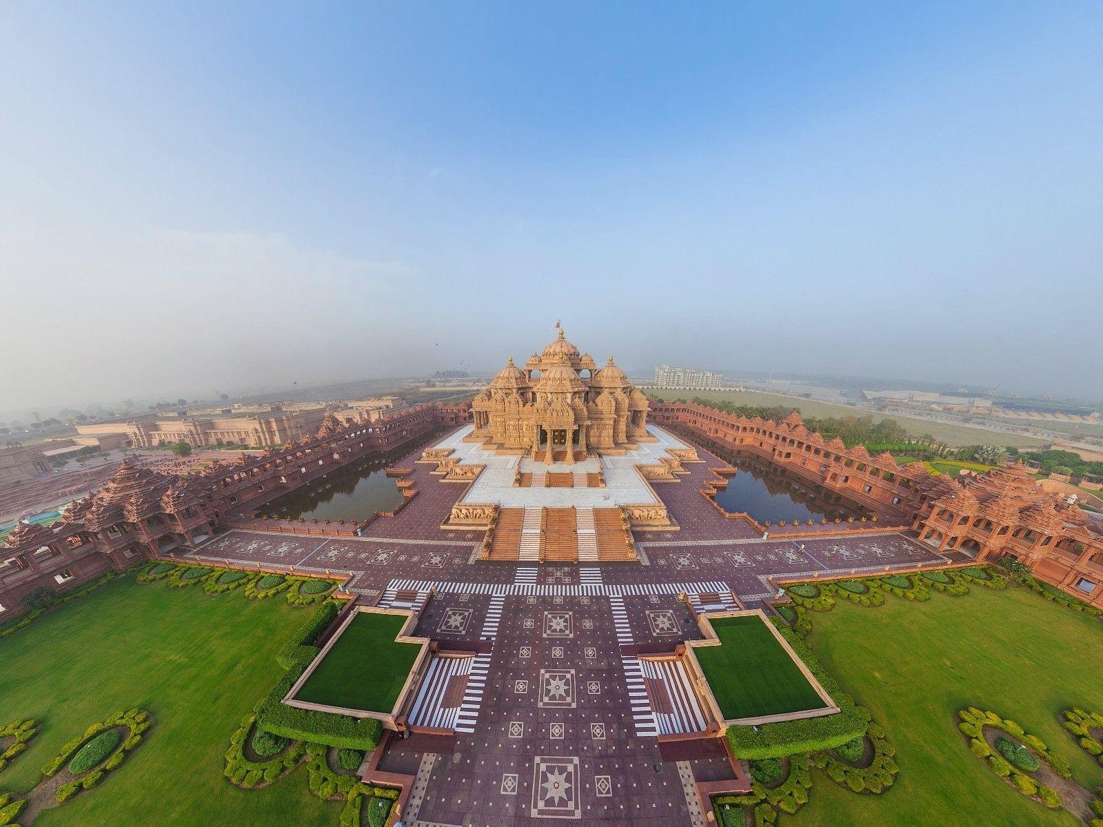 Swaminarayan Akshardham Temple Hindou A Delhi Hd Wallpapers Hd World Heritage City Tourist Places Hindu Temple