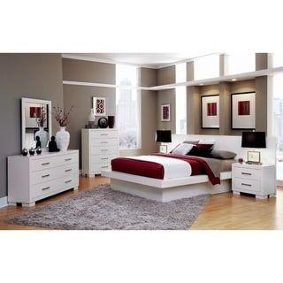 Tokyo 3 Piece Platform Bedroom Set With 2 Nightstands White