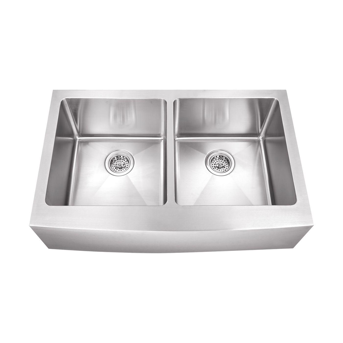 Undermount Kitchen Sinks   Schon SCAP505016 Undermount Stainless Steel Apron Front Kitchen Sink
