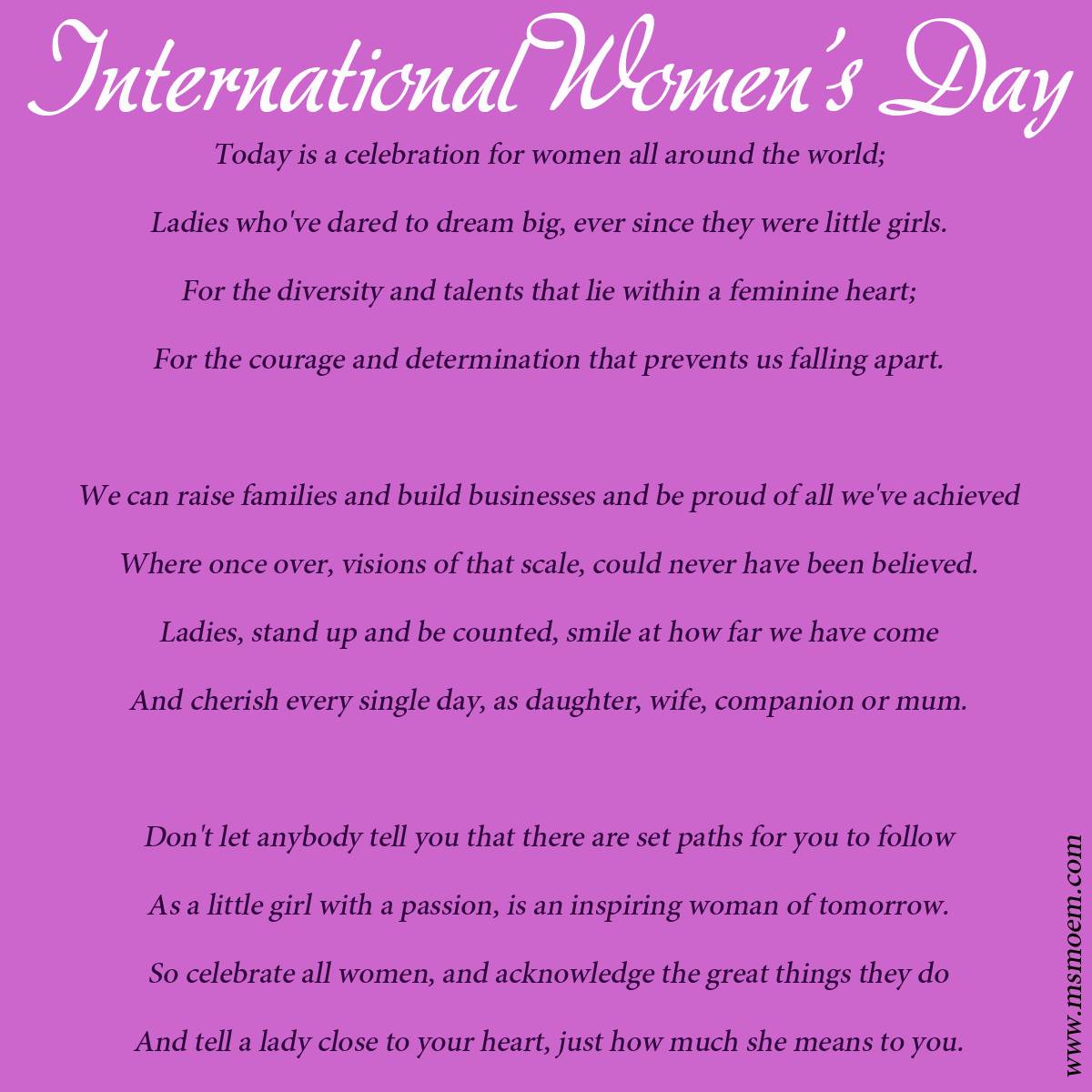 d00c5e840dc International Women s Day Quotes Poems - Happy Valentine s Day 2016 ...