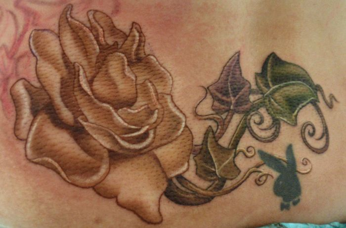 Gardenia And Ivy Tattoo By Kelly Doty Ivy Tattoo Tattoos