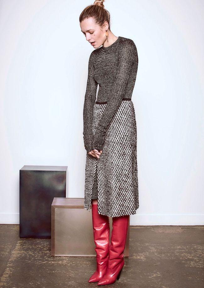plus grand choix de prix nouveau style et luxe Les bottes rouges de la collection Isabel Marant Pre Fall ...