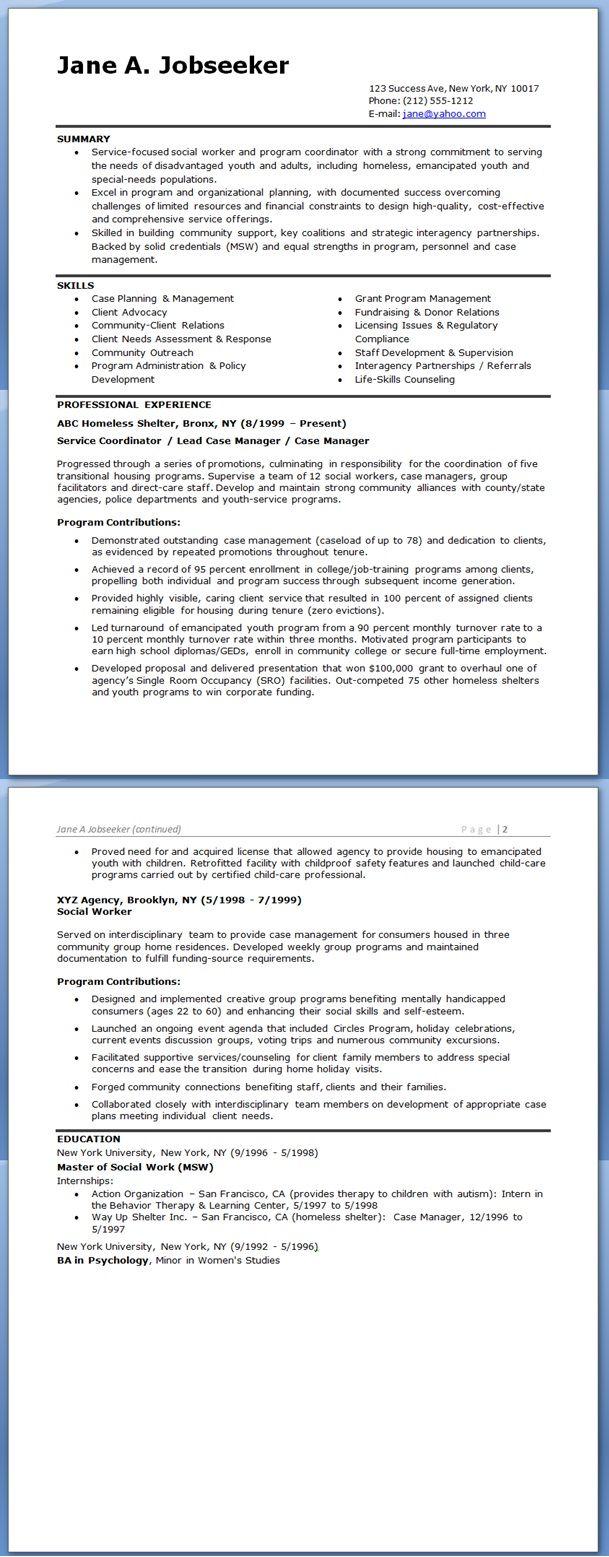Social Worker Resume Sample Templates Creative Resume Design