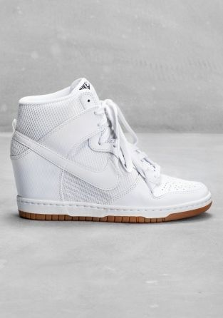 €125 NIKE This basketball-style hi-top sneaker has a hidden wedge heel for  a feminine yet sporty look. Details include a mesh upper for improved  ventilation ... 2ed9faf11