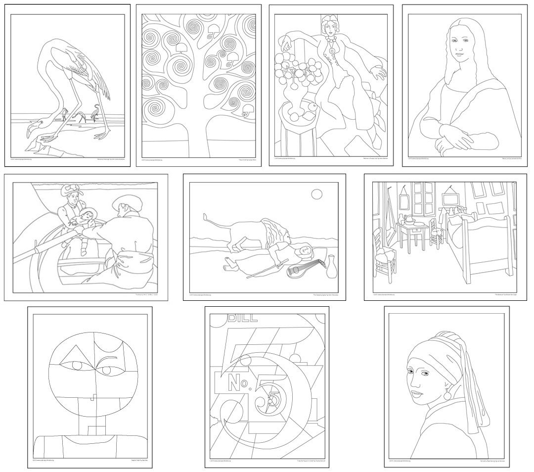 Downloadable Masterpiece Coloring Books From Kathy Barbro