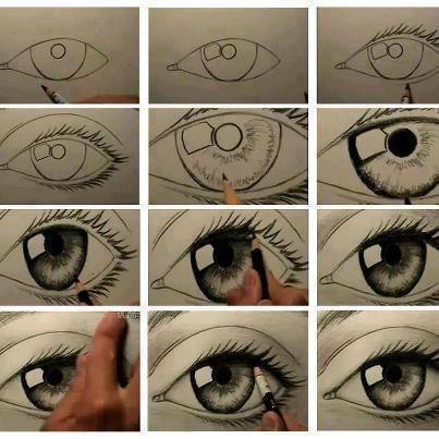 Piirrä silmä.