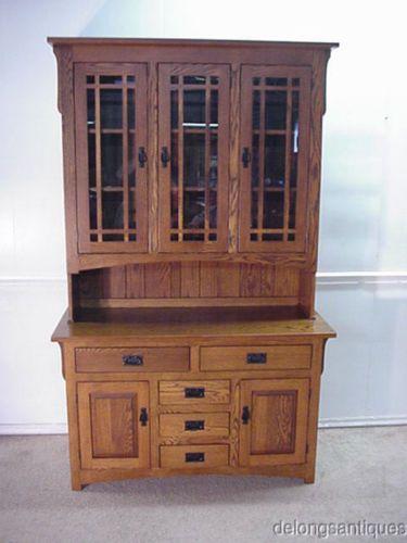 29983 Mission Oak Arts Crafts China Cabinet | EBay