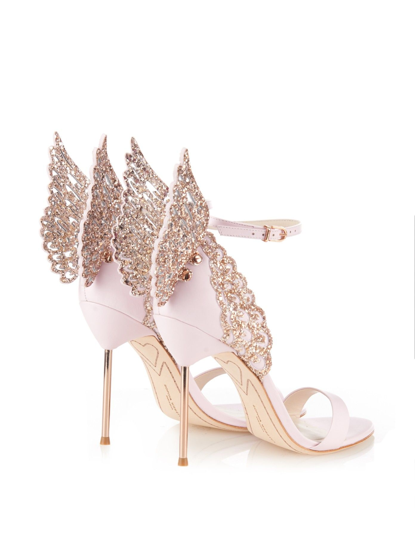 5ede3f0b4 SOPHIA WEBSTER Evangeline glitter angel-wing sandals | Divalicious ...