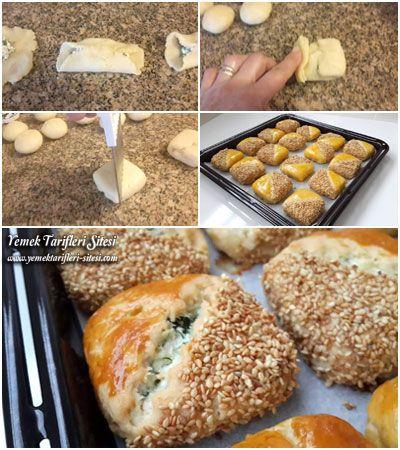 Peynirli Poğaça Nasıl Yapılır | Yemek Tarifi | Yemek, Gıda ...