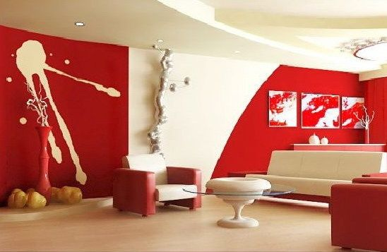 Wandstreichidee Für Wohnzimmer | New Flat: Ideas | Pinterest