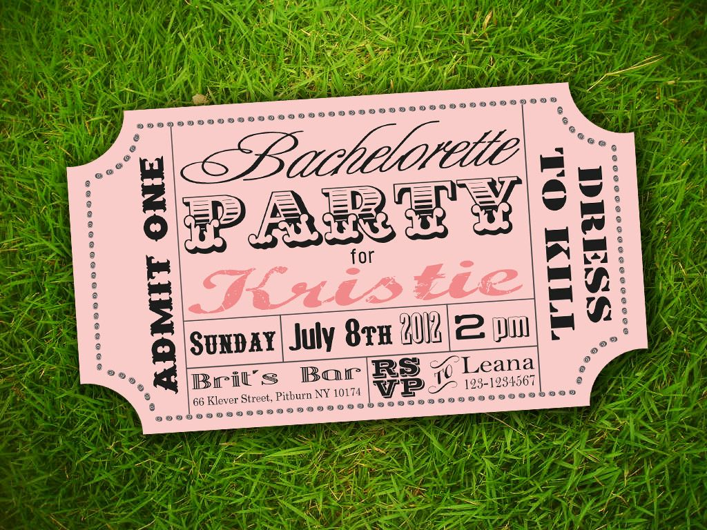 Vintage Ticket Invitation Template Free Super Cute Idea for ...