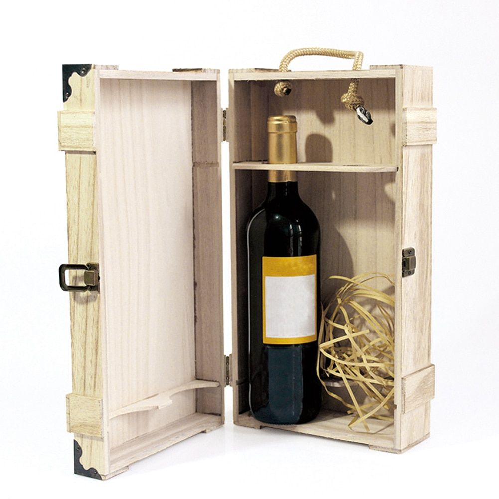 35 19 10 cm high quality retro wooden wine box with