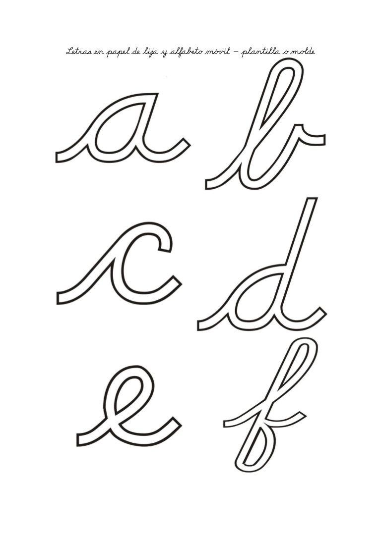 Moldes De Letras Para Lija O Papel Molde Alfabeto Alfabeto