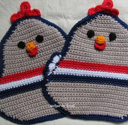 Landleven Haak Zelf Deze Grappige Pannenlap Pannelap Crochet