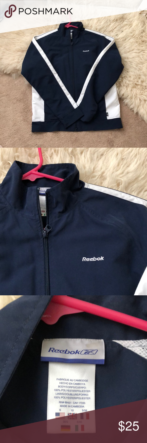 Vintage Reebok Jacket Vintage Reebok Jacket Super New And Really Comfy Windbreaker Material Discontinued Reebok J Jackets Athletic Jacket Clothes Design [ 1740 x 580 Pixel ]