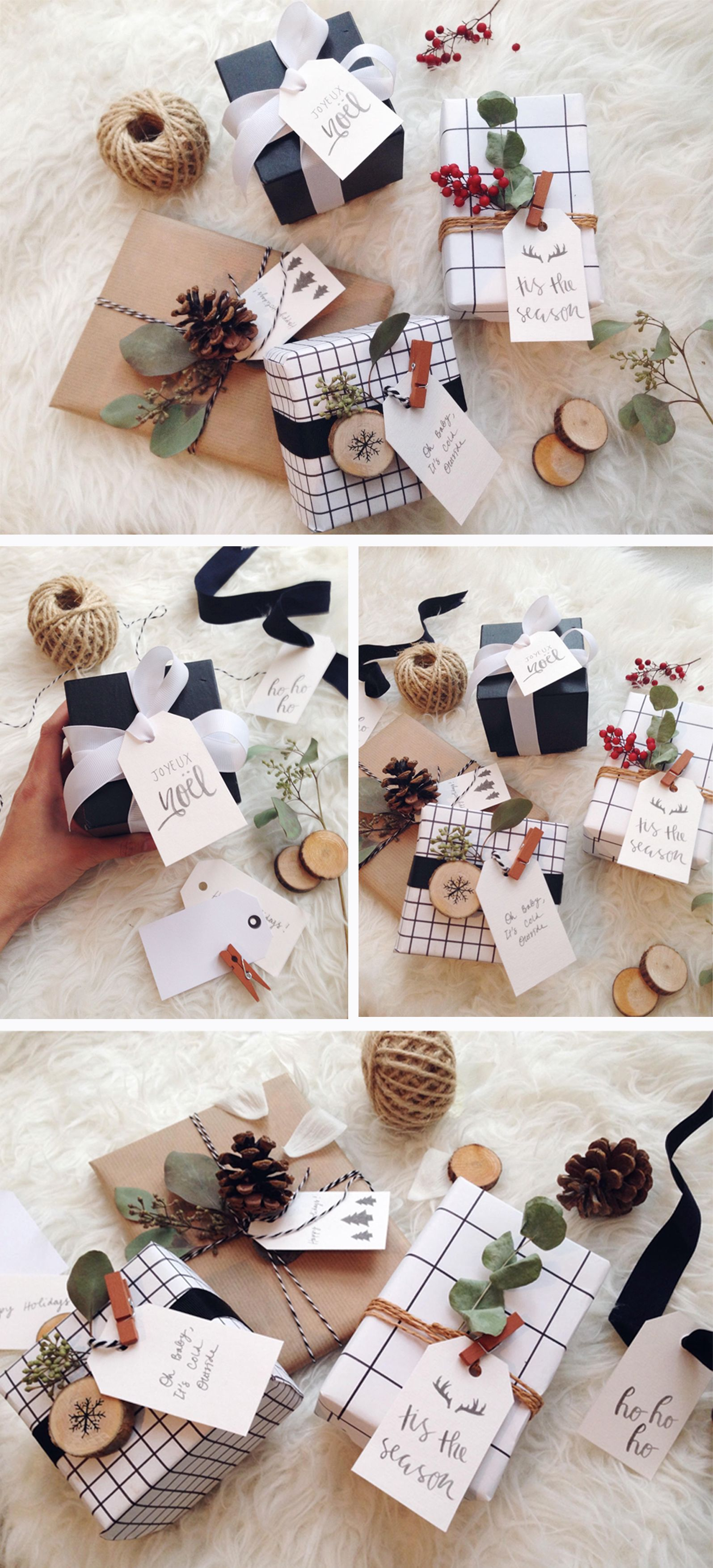 Gift wrapping ideas for this holiday season including free printable ...