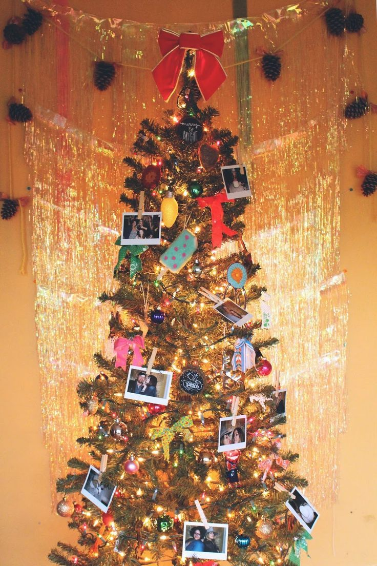 instant film on a christmas tree | Christmas tree ...