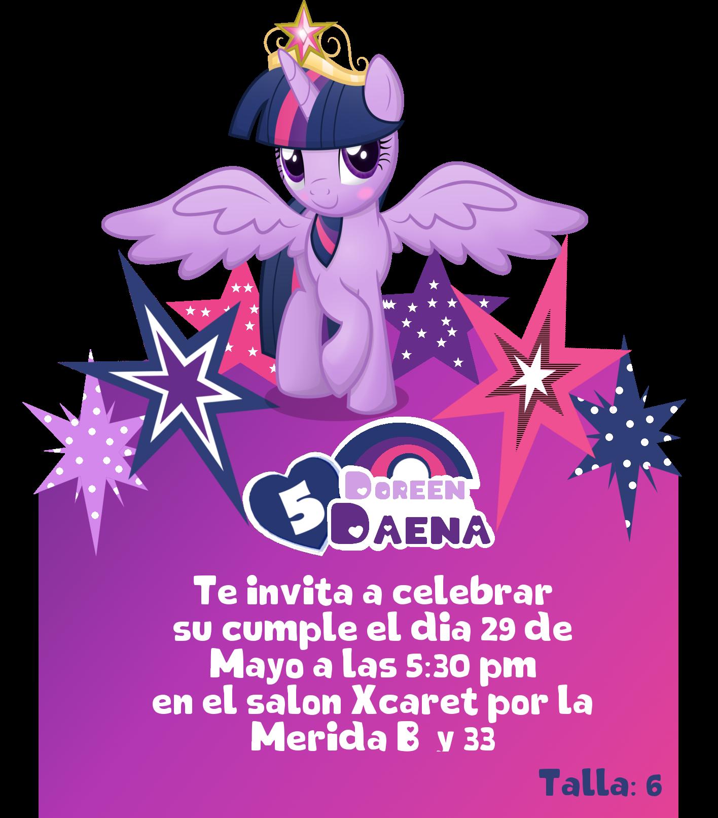 My Little Pony Invitacion Invitaciones De Cumpleaños