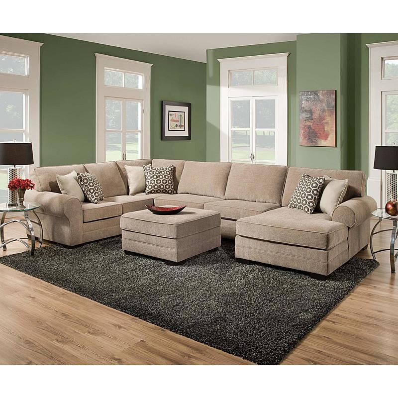 Simmons 8062s Westin Cobblestone Raf Chaise Sectional Sofa Living Room Collections Furniture