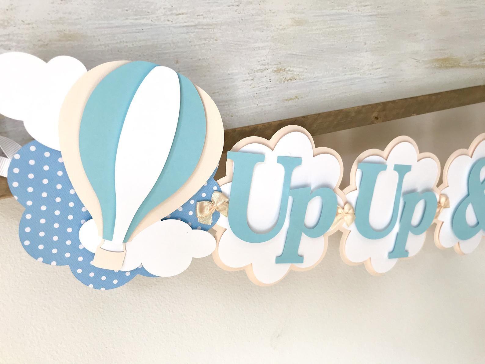 Hot Air Balloon Birthday Decorations - Hot Air Balloon Decorations - Up Up and Away