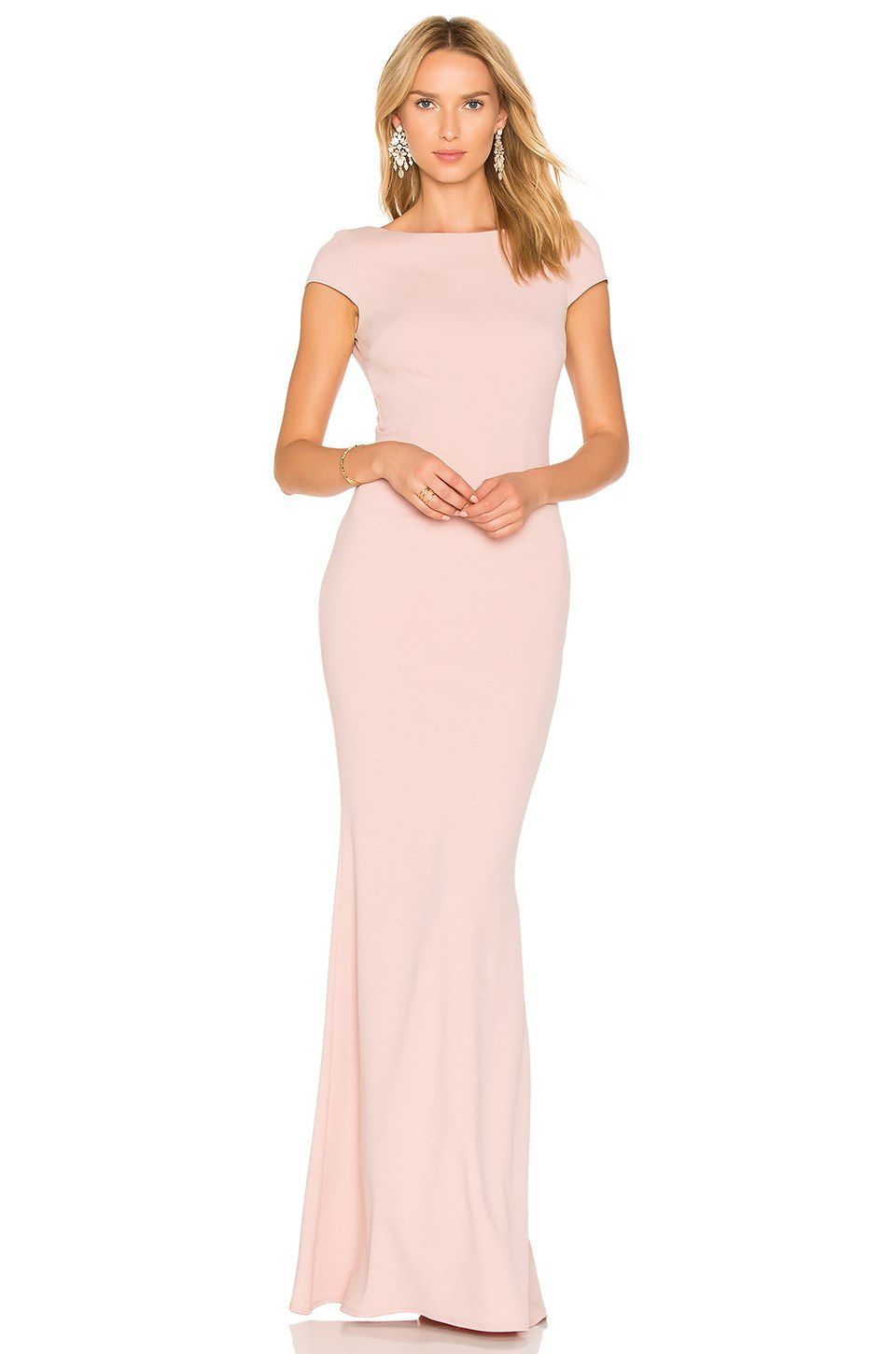 Katie may intrigue gown in dusty rose revolve wedding