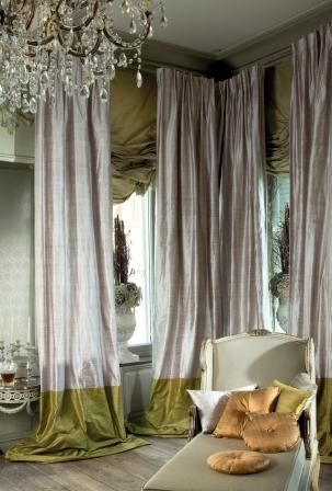 Silk Curtains are not just a back drop. They make a powerful and opulent statement & Silk Curtains are not just a back drop. They make a powerful and ...