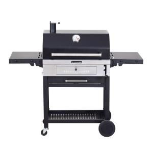 Kitchenaid Cart Style Charcoal Grill In Black With Foldable