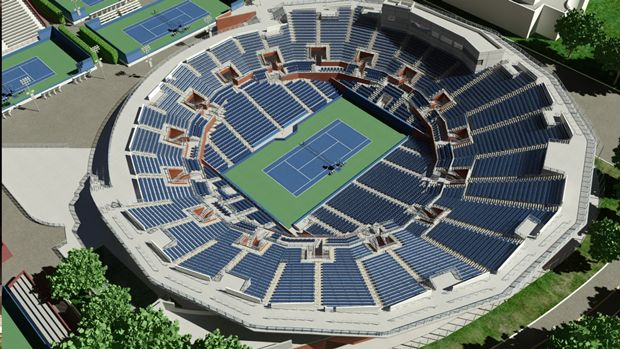 3d Interactive Seat Views For Us Open Grandstand At Billie Jean King - Us-open-tennis-center-map