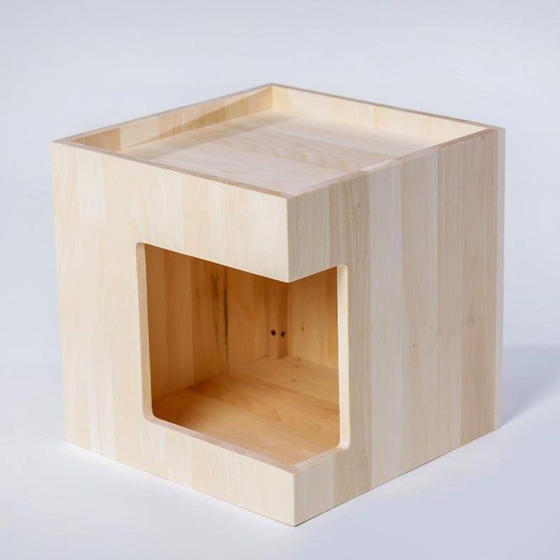 Wooden Cat Furniture Wood Cat Bed Wooden Cat House Cat Box Best Choice For Cats Gift For Cat Wood Furniture For Pets H18 H D18 H W18 2020