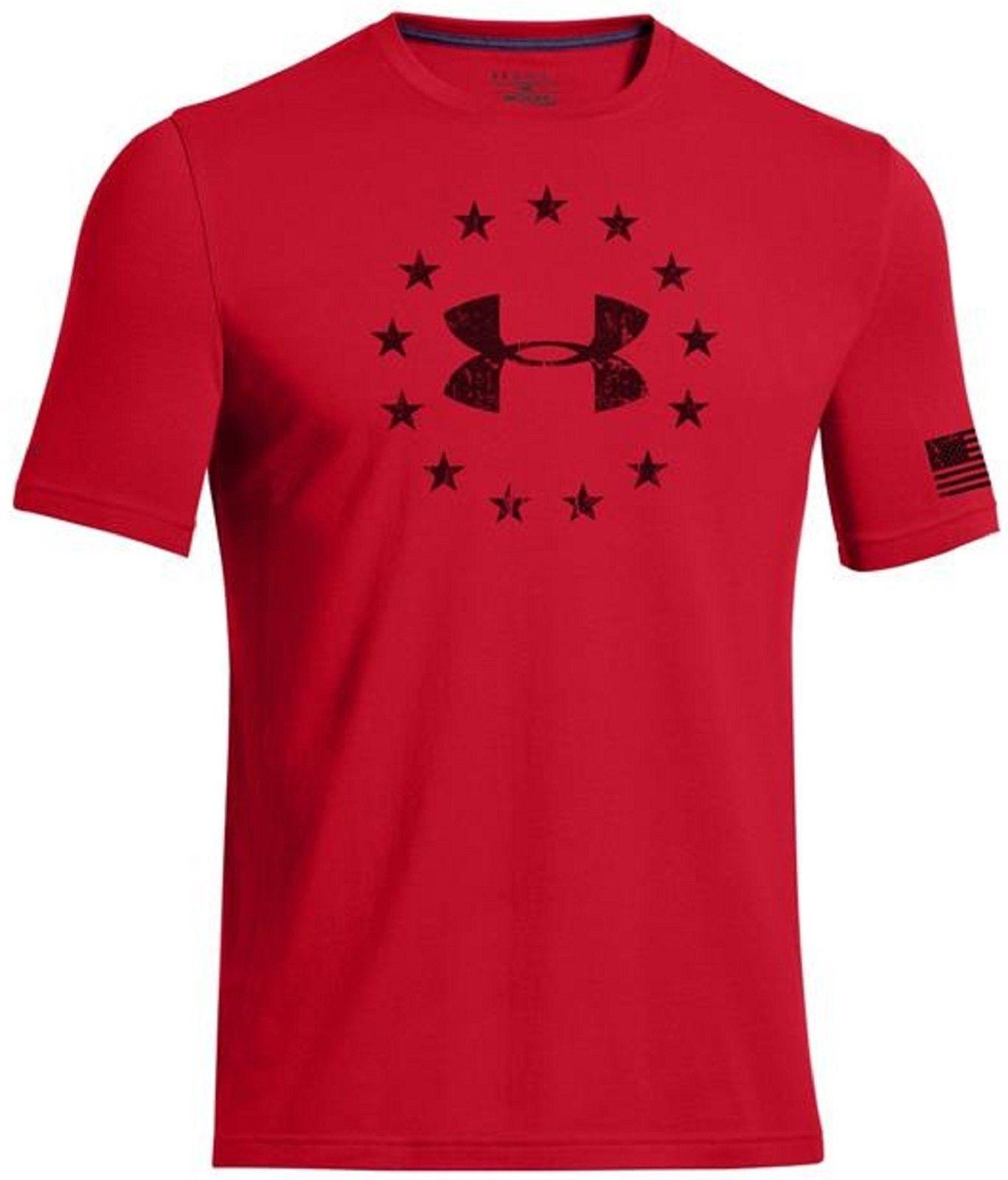 e73a99a150 Under Armour Mens FREEDOM Short Sleeve T-Shirt - UA Patriotic Stars ...