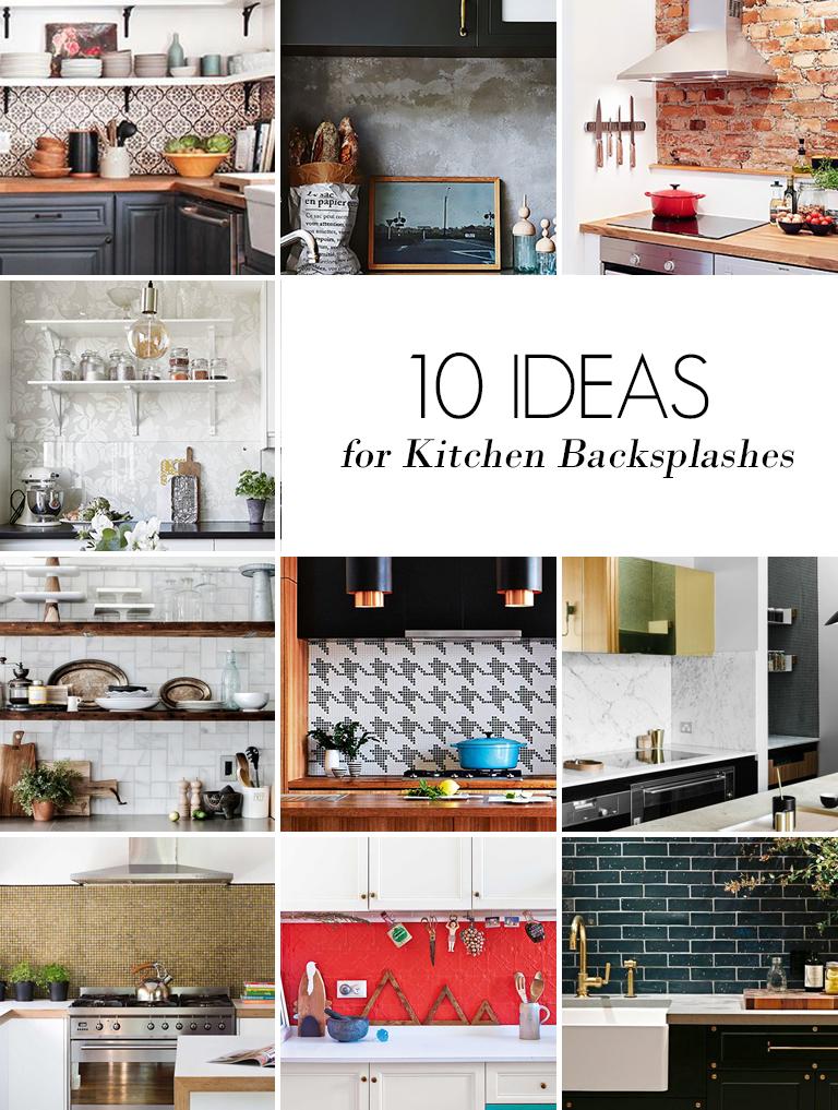 10 Ideas for Kitchen Backsplashes