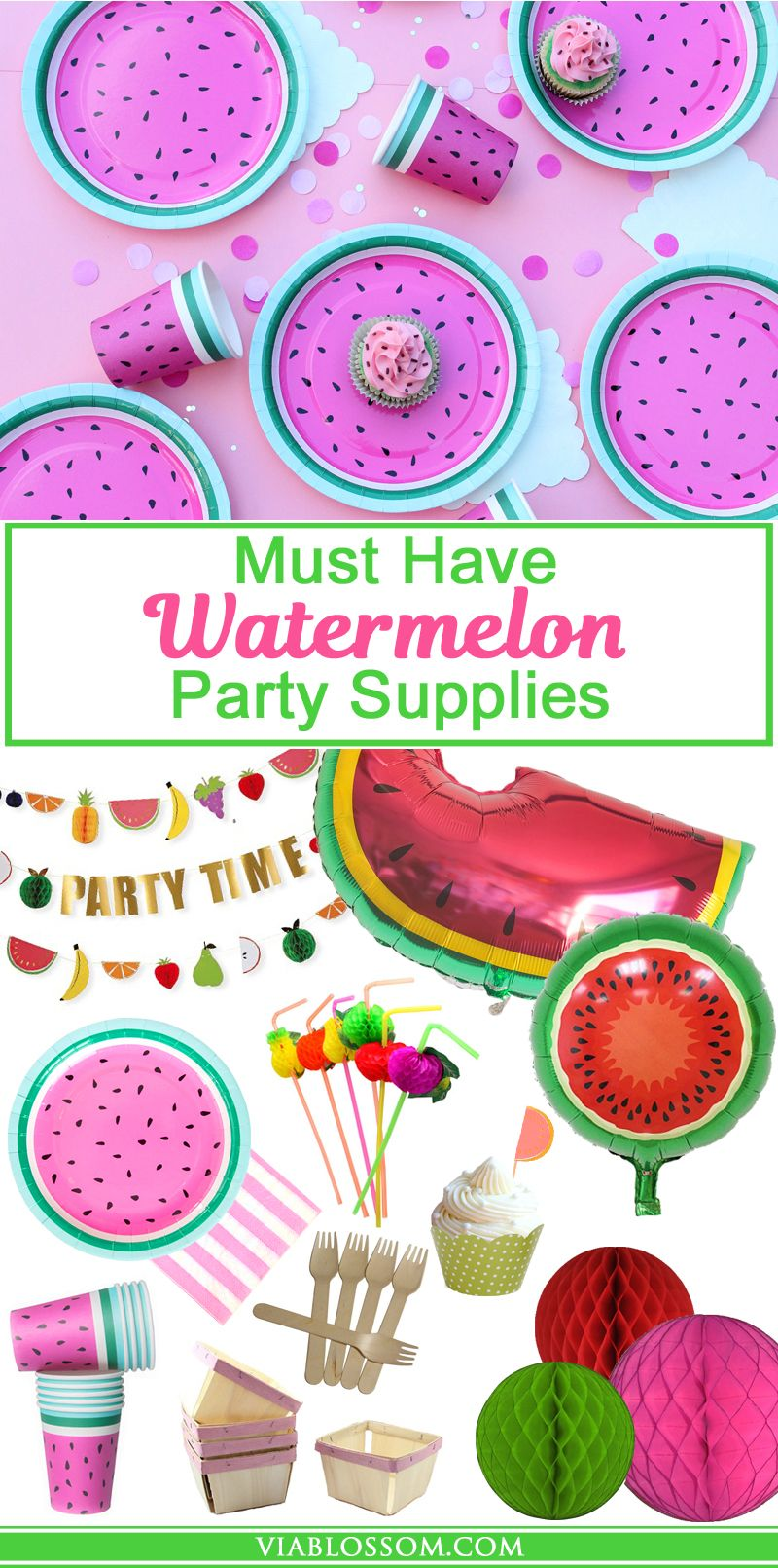 Must Have Watermelon Party Decorations for your summer parties or Watermelon Themed Party!
