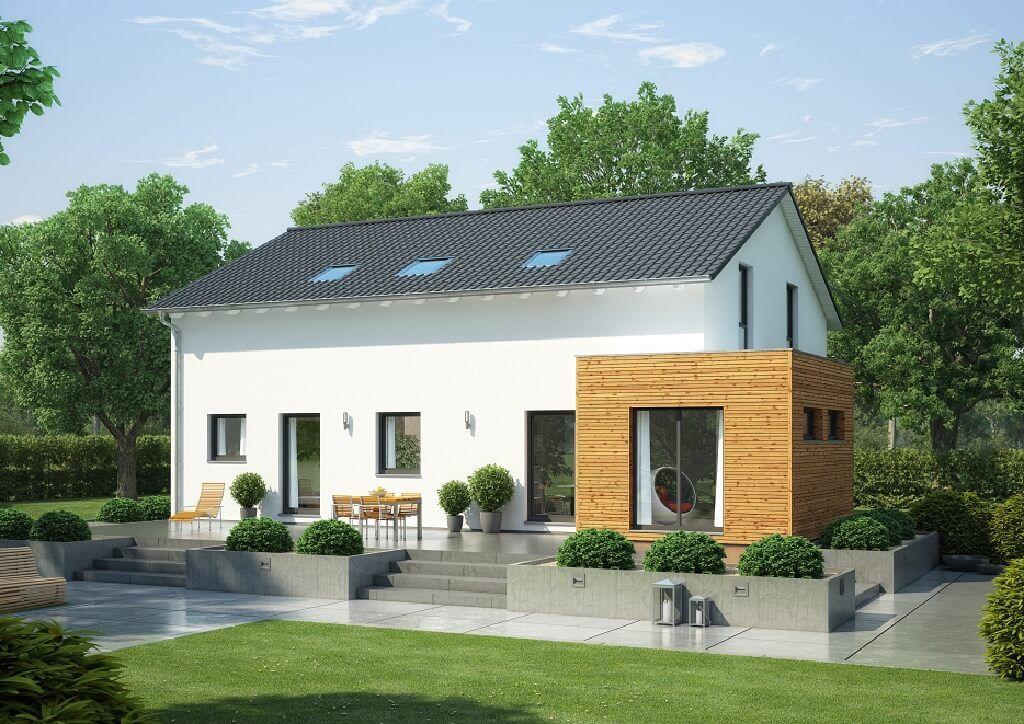 Erker Anbauen zweifamilienhaus mit satteldach haus evolution 208 v3 bien zenker