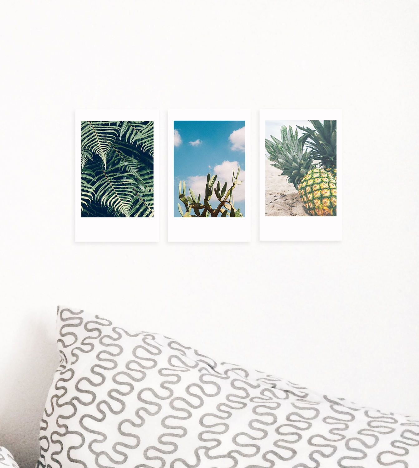 Set Of 3 Polaroid Prints- Cactus Photo Decor- Fern Wall